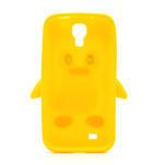 Silikonový Tučňák pouzdro pro Samsung Galaxy S4 i9500- žlutý - 3/7