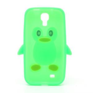 Silikonový Tučniak puzdro pro Samsung Galaxy S4 i9500- zelený - 3