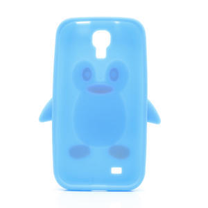 Silikonový Tučňák pouzdro pro Samsung Galaxy S4 i9500- světle-modrý - 3