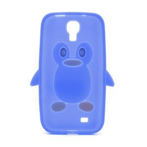Silikonový Tučniak puzdro pro Samsung Galaxy S4 i9500- modrý - 3