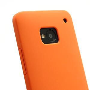 Silikonové puzdro pre HTC one M7- oranžové - 3