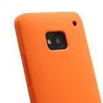 Silikonové puzdro pre HTC one M7- oranžové - 3/6