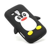 Silikonový Tučňák puzdro na Samsung Galaxy Trend, Duos- čierny - 3/6