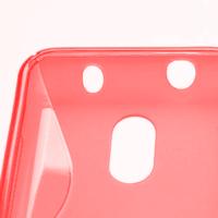 Gélové S-line puzdro na Nokia Lumia 620- červené - 3/5