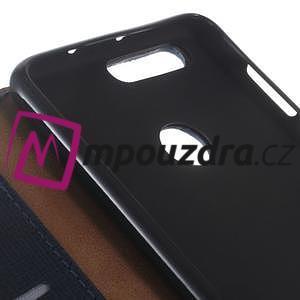 Clothy Peňaženkové puzdro pre mobil Honor 8 - tmavomodré - 3