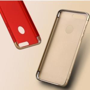 Luxusné odolný obal 3v1 pre mobil Honor 8 - červený - 3