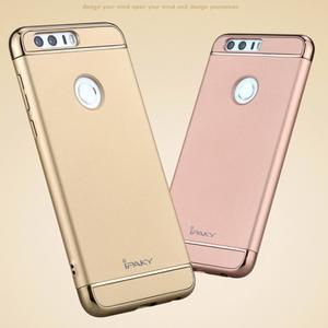 Luxusné odolný obal 3v1 pre mobil Honor 8 - zlatoružový - 3