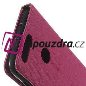 Clothy peněženkové puzdro na mobil Honor 8 - rose - 3