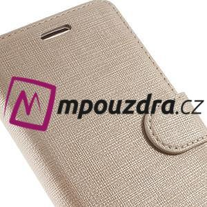 Clothy peněženkové puzdro na mobil Honor 8 - zlaté - 3