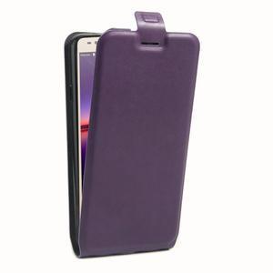 Flipové PU kožené puzdro na Huawei Y3 II - fialové - 3