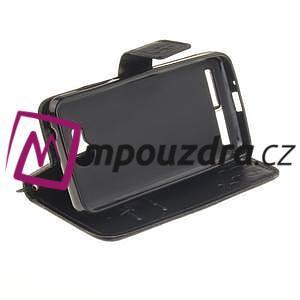 Dandelion PU kožené puzdro na mobil Huawei Y3 II - čierne - 3