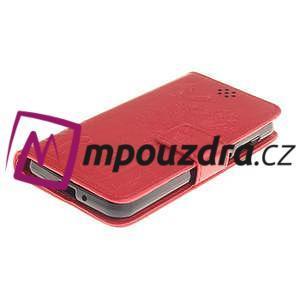 Dandelion PU kožené puzdro na mobil Huawei Y3 II - červené - 3