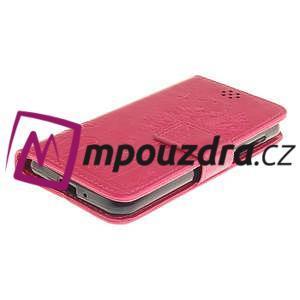 Dandelion PU kožené puzdro na mobil Huawei Y3 II - rose - 3