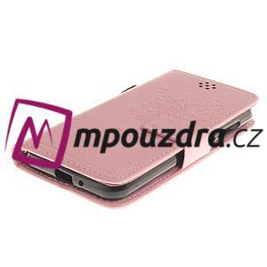 Dandelion PU kožené puzdro na mobil Huawei Y3 II - růžové - 3