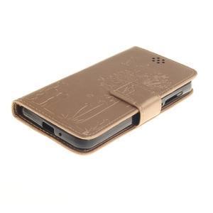 Dandelion PU kožené puzdro na mobil Huawei Y3 II - zlaté - 3
