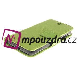 Dandelion PU kožené puzdro na mobil Huawei Y3 II - zelené - 3
