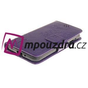 Dandelion PU kožené puzdro na mobil Huawei Y3 II - fialové - 3