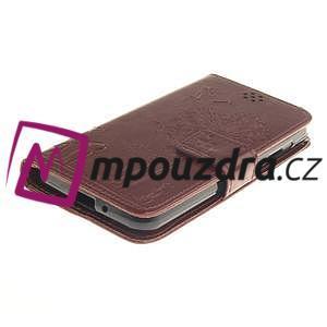 Dandelion PU kožené puzdro na mobil Huawei Y3 II - hnědé - 3