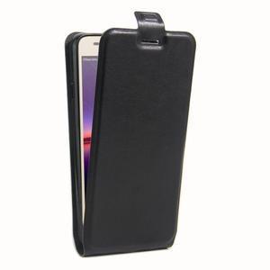 Flipové PU kožené puzdro na Huawei Y3 II - čierne - 3