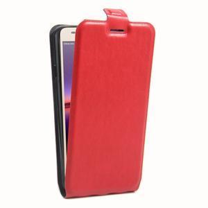 Flipové PU kožené puzdro na Huawei Y3 II - červené - 3