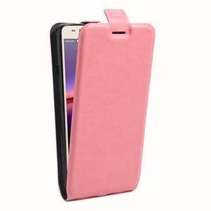 Flipové PU kožené puzdro na Huawei Y3 II - růžové - 3