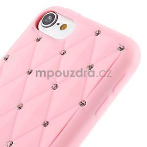Brite silikónový obal s kamienkami iPod Touch 6 / Touch 5 - ružový - 3