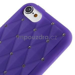 Brite silikónový obal s kamienkami iPod Touch 6 / Touch 5 - fialový¨ - 3