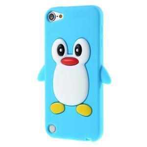 Penguin silikónový obal na iPod Touch 6 / iPod Touch 5 - svetlomodrý - 3