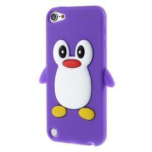 Penguin silikónový obal na iPod Touch 6 / iPod Touch 5 - fialový - 3