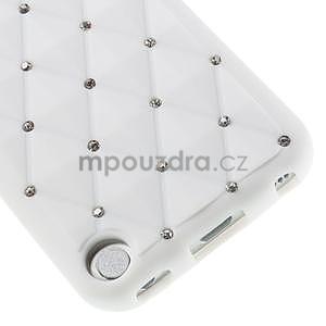 Brite silikónový obal s kamienkami iPod Touch 6 / Touch 5 - biely - 3