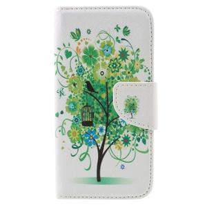Emotive PU kožené puzdro pre LG K8 - zelený strom - 3