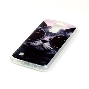 Jells gelový obal na LG K8 - cool kočka - 3