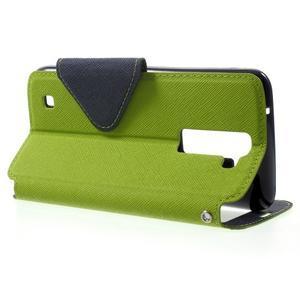 Diary PU kožené puzdro s okienkom na LG K8 - zelené - 3
