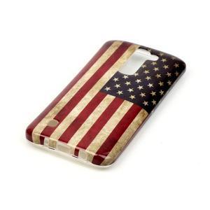 Emotive gélový obal pre mobil LG K8 - US vlajka - 3