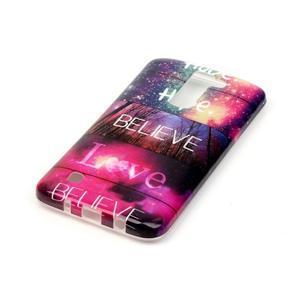 Emotive gélový obal pre mobil LG K8 - believe - 3