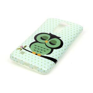 Emotive gélový obal pre mobil LG K8 - sova - 3