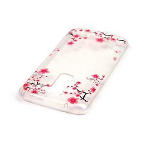 Průhledný gelový obal na telefon LG K8 - kvetoucí švestka - 3
