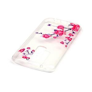 Priehľadný gélový obal pre telefon LG K8 - kvitnúce vetvička - 3