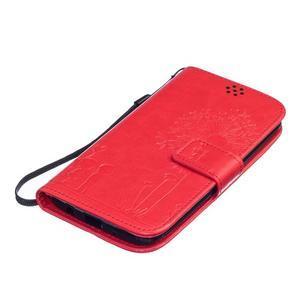 Dandelion PU kožené puzdro pre mobil LG K8 - červené - 3