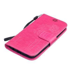 Dandelion PU kožené pouzdro na mobil LG K8 - rose - 3
