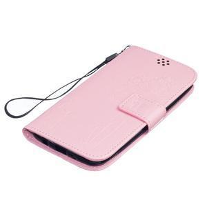 Dandelion PU kožené puzdro pre mobil LG K8 - ružové - 3