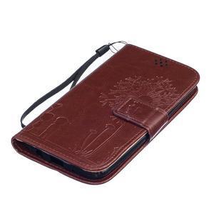 Dandelion PU kožené pouzdro na mobil LG K8 - hnědé - 3