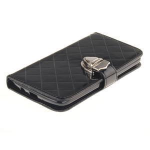 Luxusní PU kožené puzdro s přezkou na LG K8 - čierne - 3