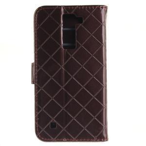 Luxusní PU kožené puzdro s přezkou na LG K8 - hnedé - 3