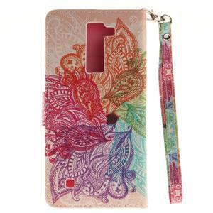 Style PU kožené puzdro pre LG K8 - farebná mandala - 3