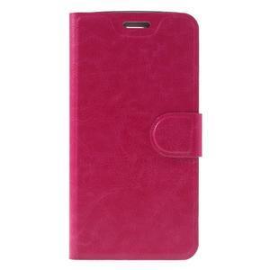 Horse PU kožené puzdro pre mobil LG K8 - rose - 3