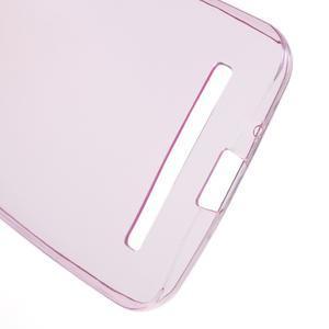 Ultra tenký slim gélový obal na Asus Zenfone 2 ZE500CL -  rose - 3