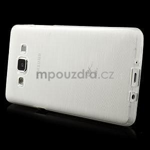 Brúsený gélový obal Samsung Galaxy A5 - biely - 3