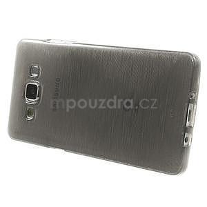 Broušený gélový obal Samsung Galaxy A5 - šedý - 3