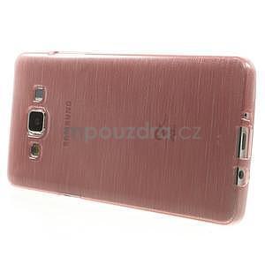 Broušený gélový obal Samsung Galaxy A5 - růžový - 3